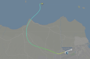Sriwijaya Air Flight Path